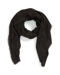 Burberry - Black Cashmere Scarf - Lyst