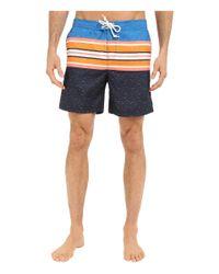 Original Penguin - Multicolor Engineered Printed Stripe Volley Swim Shorts for Men - Lyst