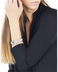 BCBGMAXAZRIA | Metallic Faux-leather Pyramid Cuff Bracelet | Lyst