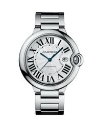 Cartier - Metallic Ballon Bleu De Large Stainless Steel Bracelet Watch - Lyst