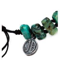 Joseph Brooks - Green Stone Beaded Bracelet for Men - Lyst