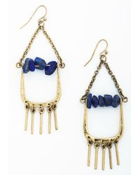 Ana Accessories Inc   Blue Bejeweled And Beautiful Earrings   Lyst