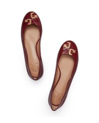 Tory Burch | Red Lowell Flat | Lyst