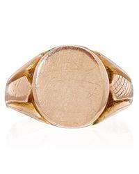 Annina Vogel - Pink Rose Gold Antique Signet Ring - Lyst