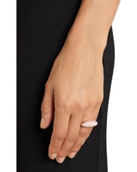 Irene Neuwirth - Diamond Pink Opal Sideways Ring - Lyst