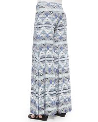Rachel Pally - Gray Stencil-print Wide-leg Trousers - Lyst