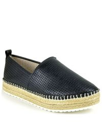 Steve Madden | Black Perforated Espadrille | Lyst