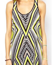 Seafolly - Brown Mod Club Trader Dress - Lyst