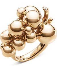 Georg Jensen - Metallic Moonlight Grapes 18ct Rose-gold And Diamond Ring - For Women - Lyst