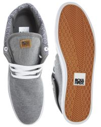 Beck & Hersey - Gray Midtop Trainers for Men - Lyst