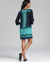 Adrianna Papell   Multicolor Placement Print Tunic Dress   Lyst