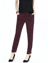 Banana Republic | Black Piped Printed Soft Pant | Lyst