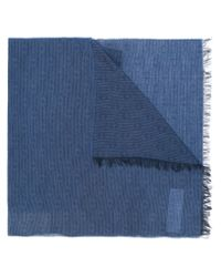 Armani Jeans - Blue Woven Scarf - Lyst