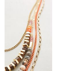 Anthropologie | Pink Sea Depths Layered Necklace | Lyst