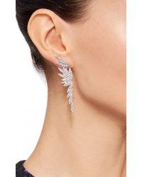 AS29 | Metallic Bamboo Long Earrings | Lyst
