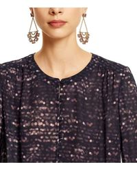 Tory Burch - Metallic Open Jeweled Statement Earring - Lyst