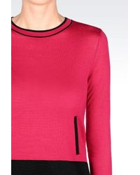 Armani Jeans - Purple Jumper In Wool Blend - Lyst