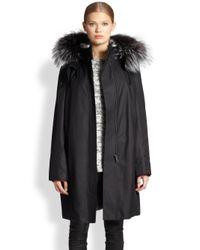 Helmut Lang - Black Ultimate Fox Furlined Trenchcoat - Lyst