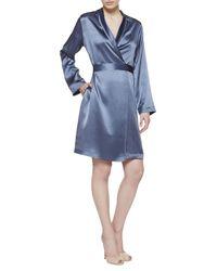 La Perla   Blue Short Robe   Lyst