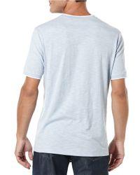 Perry Ellis | Blue Slub Stripe T-shirt for Men | Lyst