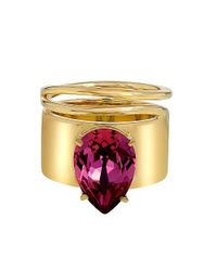 Stella Valle   Metallic Lightening Bug Rose Ring   Lyst