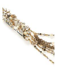 Erickson Beamon - Metallic Ballroom Dancing Embellished Multi-chain Necklace - Lyst