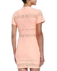 Elizabeth and James | Orange Ari Cutout-trim Fitted Dress | Lyst