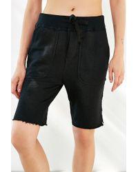 BDG - Black Knit Unisex Cutoff Short - Lyst