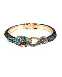 Betsey Johnson   Multicolor Dark Shadows Snake Mesh Bangle Bracelet   Lyst