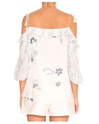 See By Chloé - White Off-shouldered Top - Lyst