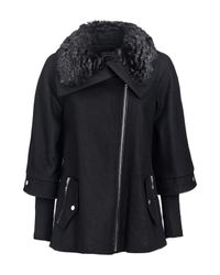 Guess | Black Jacket With Zip | Lyst