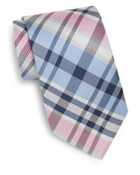 Burma Bibas | Pink Plaid Silk Tie & Gift Box for Men | Lyst