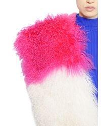 MSGM | Multicolor Patchwork Mongolia Fur Stole | Lyst