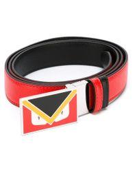 Fendi - Red Bag Bugs Buckle Belt for Men - Lyst