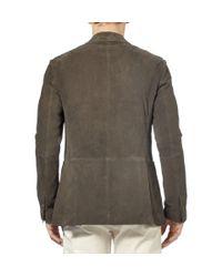 Etro - Brown Unstructured Suede Blazer for Men - Lyst