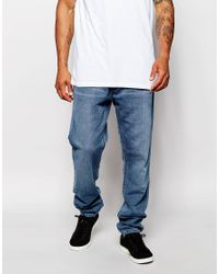 Adidas Originals - Blue Denim Joggers Ab8057 for Men - Lyst
