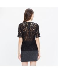 Madewell | Black Lace Refined Tee | Lyst