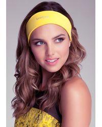 Bebe - Yellow Hold It Headband - Lyst