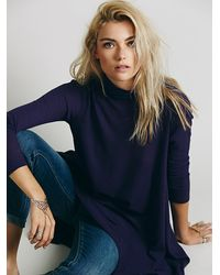 Free People | Purple We The Free Womens We The Free Wonder Woman Mock Neck | Lyst