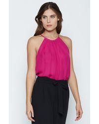 Joie | Pink Amarey Silk Top | Lyst