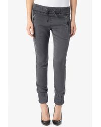 Hudson Jeans - Gray Katie Crop Sweatpant - Lyst