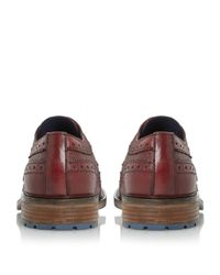 Dune | Purple Bongo Chunky Sole Brogue Shoes for Men | Lyst