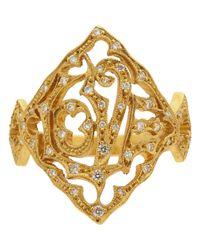 Cathy Waterman Metallic Love Ring