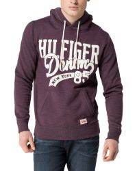 Tommy Hilfiger | Purple Hilfiger Hooded Knit for Men | Lyst