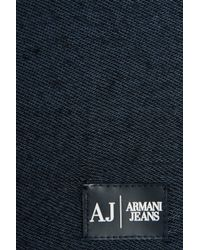 Armani Jeans - Blue Viscose Scarf for Men - Lyst