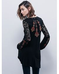 Free People | Black Womens Charlie Tunic | Lyst