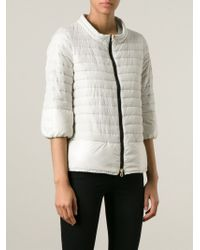 Duvetica - Natural Quilted Zip Front Jacket - Lyst