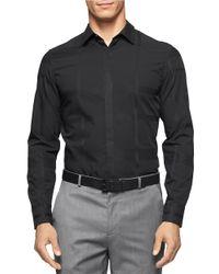 Calvin Klein | Black Solid Sportshirt for Men | Lyst