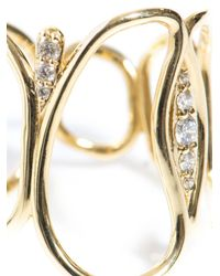 Fernando Jorge - Metallic Diamond & Yellow-Gold Fluid Band Ring - Lyst