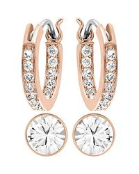 Swarovski | Pink Canvas Earrings | Lyst